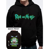 Rick And Morty - Riggity Riggity Men's Large Hooded Sweatshirt - Black