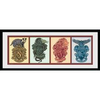 Harry Potter House Animals Framed Collector Print
