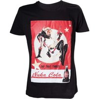Fallout 4 Adult Male Nuka Cola 'Zap That Thirst!' Medium T-Shirt - Black