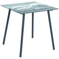Stylé nuancemeuble table d'appoint port-louis noir-noir-blanc l40 x p40 x h41 cm. Stylé NUANCEMEUBLE table d'appoint Port-Louis noir-noir-blanc L