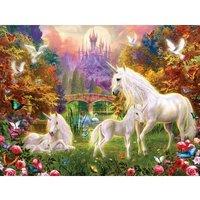 SunsOut XXL Teile - Castle Unicorns 300 Teile Puzzle Sunsout-15960