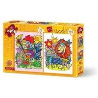 Art Puzzle 2 Puzzles - Musician Animals 12 Teile Puzzle Art-Puzzle-4490
