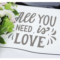 Tenvinilo ES|Pegatina para bodas coche de boda all you need is love