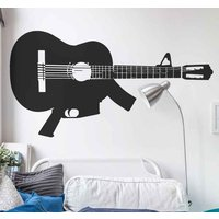 Adesivo_murale_chitarra_mitraglietta_tenstickers_stickers