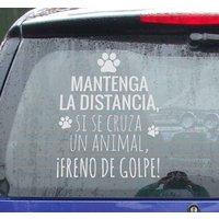 Tenvinilo ES|Pegatina para coches distancia animales