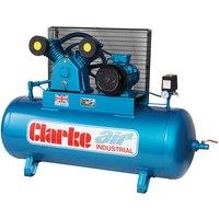 Clarke Clarke XEV26/200 (WIS) 23cfm 200Litre 5.5HP Industria