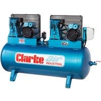 Clarke Clarke XE37/270 (O/L) 36cfm 270Litre 2x4HP Industrial