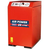 Sealey Sealey SAC82425VLN 7.5cfm 24Litre 2.5HP Low Noise V-Twin Direct Drive Cabinet Air Compressor