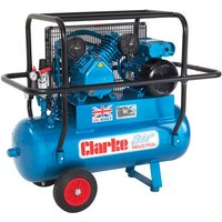 Clarke Clarke XEPVH16/50 (OL) 14cfm 50Litre 3HP Portable Industrial Air Compressor with Cage (110V)
