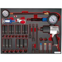 Sealey Sealey TBTP08 42 Piece Impact Wrench Sockets and Tyre Tool Set in Tool Tray