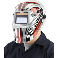 Clarke Clarke GWH6 Chequer design Arc Activated Solar Powered Grinding/Welding Headshield