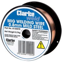 Clarke Clarke Mild Steel Welding Wire 0.8mm 0.8kg