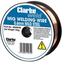 Price Cuts Clarke Mild Steel Welding Wire 0.6mm 15kg