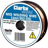 Price Cuts Clarke Mild Steel Welding Wire 0.6mm 5kg