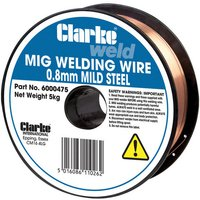 Price Cuts Clarke Mild Steel Welding Wire 0.8mm 5kg