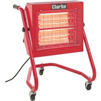 Clarke Clarke Devil 370sp Quartz Halogen Infra Red Heater With Swivel Head 230v