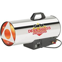 Clarke Clarke Devil 660 SS Stainless Steel Gas Heater