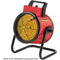 New Clarke Devil 7009 9kw Industrial Electric Fan Heater