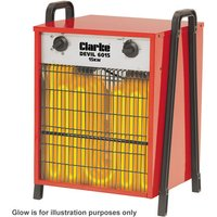 Click to view product details and reviews for 400 Volt 3 Phase Clarke Devil 6015 Industrial Electric Fan Heater 400v.