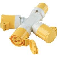 Clarke Clarke GAP1 110V 16A 3-Way Generator Adaptor Plug
