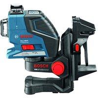 Machine Mart Xtra Bosch GLL 2-80 P Professional Line Laser, BM1 Wall Mount/Ceiling Clamp & L-BOXX