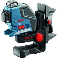 Machine Mart Xtra Bosch GLL 3-80 P Professional Line Laser, BM1 Wall Mount/Ceiling Clamp, LR 2 Laser Receiver & L-BOXX