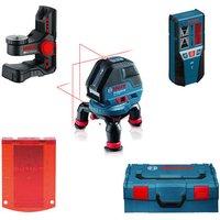 Machine Mart Xtra Bosch GLL 3-50 Professional Line Laser, Mini Tripod, LR2 Receiver, Wall Mount & L-BOXX