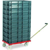 Barton Storage Barton Storage 88880-01WH/6412 Euro Container Dolly With Handle & 9 x 22ltr Containers