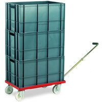 Machine Mart Xtra Barton Storage 88880-01WH/6432 Euro Container Dolly With Handle and 3 x 60ltr Containers