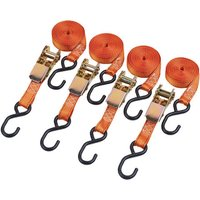 Clarke Clarke CHT758 4.5m Heavy Duty Ratcheting Tie Down (Pack Of Four)