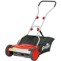 New Grizzly HRM38 38cm Push Cylinder Lawnmower with Collection Bag