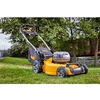 DeWalt XR FlexVolt DeWalt DCMW564P2-GB 48cm Brushless Lawnmower With 2 x 5Ah Batteries and Charger