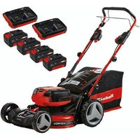 Einhell Power X-Change Einhell GE-CM 36/47 S HW Li Power X-Change 36V (2x18V) Cordless Self Propelled Lawn Mower with 4 x 4Ah Batteries