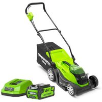 Greenworks Greenworks G40LM35K2 40V 35cm Mower with 2Ah Battery and Charger