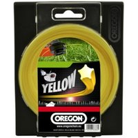 Machine Mart Xtra Oregon Yellow Starline Trimmer Line - 2.0mm x 520m