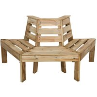 Forest Forest 85x166x75cm Timber Tree Seat