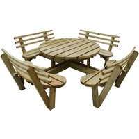 Forest Forest 82x246x246cm Circular Picnic Table with Seat Backs