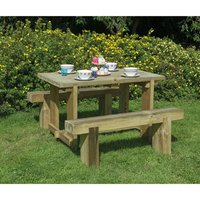 Forest Forest 1.2m Sleeper Bench and Refectory Table Set