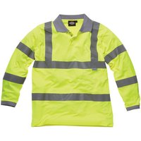 Dark Nights Dickies High Visibility Long Sleeve Polo Shirt Large