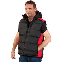 Dickies Dickies BW7004 Crayford Black and Red Gillet (XXL)