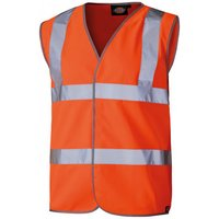 Dickies Dickies Orange Hi Vis Highway Safety Waistcoat - Small