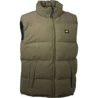 Cat Cat - Olive Quilted Insulated Vest (S)