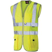 Click to view product details and reviews for Dickies Dickies Hi Vis Technical Waistcoat Xxl.