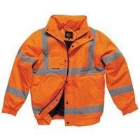 Dickies Dickies SA22050 Hi-Vis Bomber Jacket (Orange) - Small