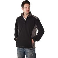 Dickies Dickies Two Tone Micro Fleece In Black & Grey (Extra Extra Large)