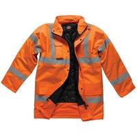 Dickies Dickies SA22045 Hi-Vis Motorway Safety Jacket (Orange) - Small
