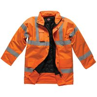 Dickies Dickies SA22045 Hi-Vis Motorway Safety Jacket (Orange) - Small