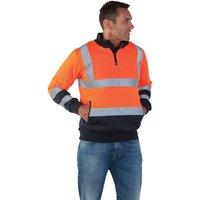 Dickies Dickies Hi-Vis Quarter Zip Sweatshirt (Large)