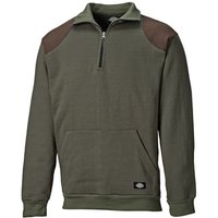 Dickies Dickies AG8500 Kendrick Zip Through Sweatshirt Moss - S