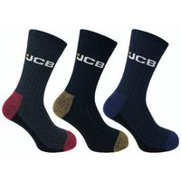 Click to view product details and reviews for Jcb Jcb Mens Assorted Coloured Stay Dry Boot Work Socks 3 Pairs.